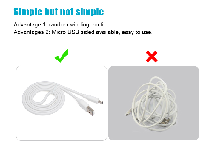 double micro usb charging and transmission cable
