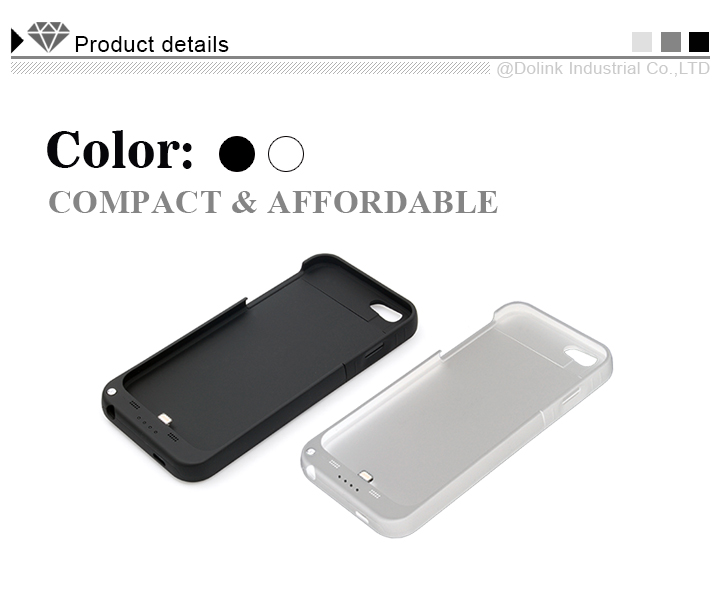 Slim Battery Rechargeable Backup Case for Iphone