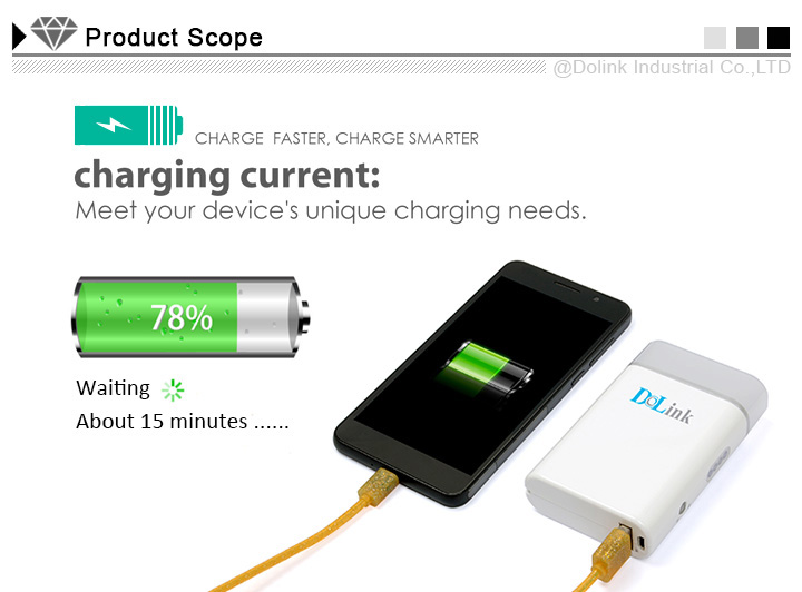5200mAh Fast Charging High Capacity External compact power bank with CE, FCC and RoHS