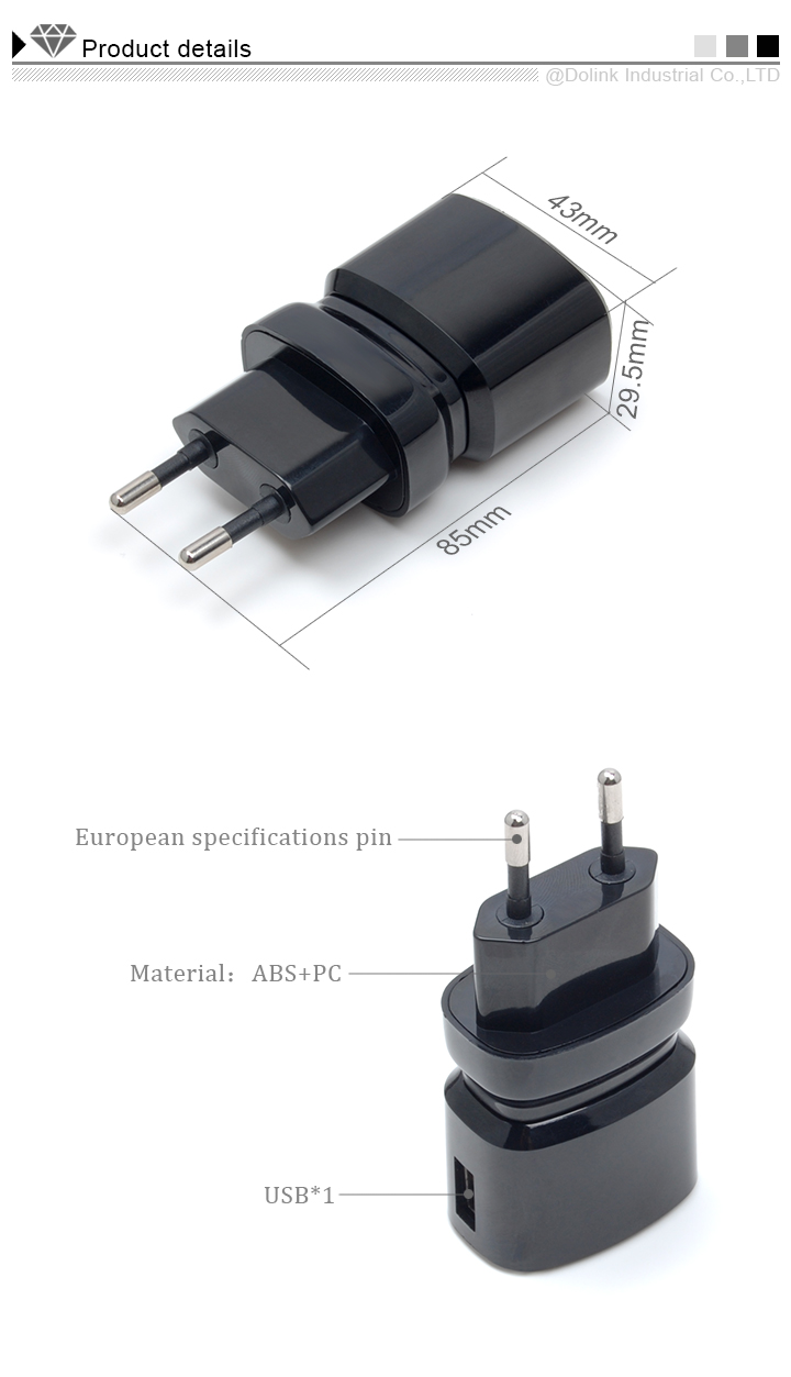 5v 2.1a usb chargers with CE/ROHS/FCC