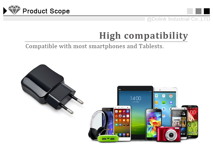 5V 2A Dual USB Port Wall Charger Mobile phone accessories